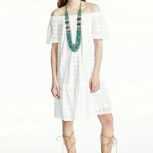 NWT Rebecca Taylor Embroidered Off Shoulder Dress